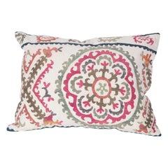 Suzani Lumbar Pillow Case Fashioned from a Vintage Suzani