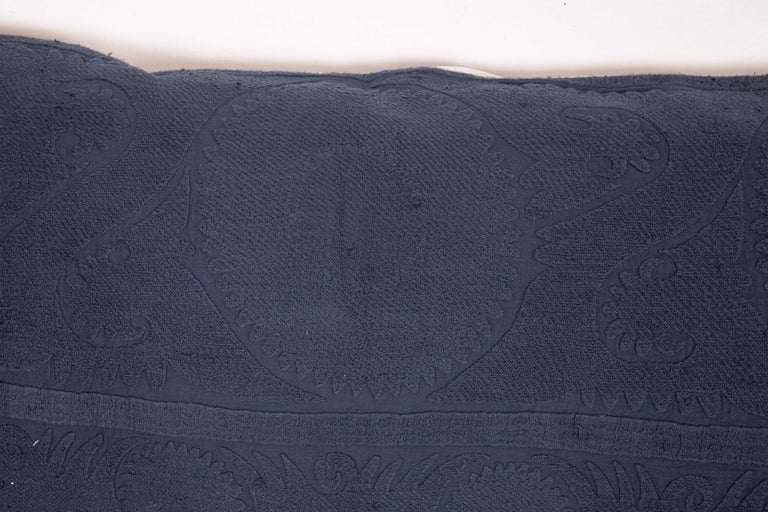 Suzani Lumbar Pillow Case Fashioned from an Over-Dyed Suzani, Mid-20th Century In Good Condition For Sale In Istanbul, TR