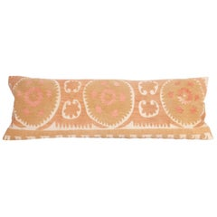 Suzani Lumbar Pillow Case Made from a Vintage Uzbek Suzani, Mid-20th Century