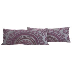 Suzani Lumbar Pillow Cases Fashioned from a Vintage Over Dyed Suzani