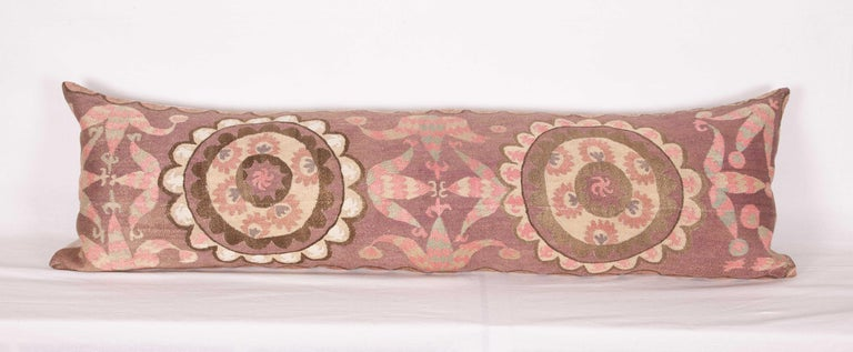 Suzani Lumbar Pillow Cases Fashioned from All-Over Embroidered Tashket Suzani In Good Condition For Sale In Istanbul, TR