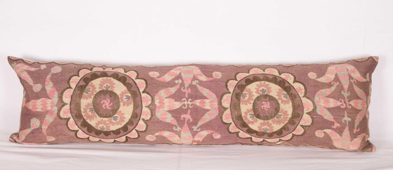 Suzani Lumbar Pillow Cases Fashioned from All-Over Embroidered Tashket Suzani For Sale 3