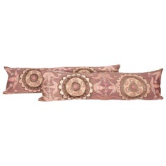 Suzani Lumbar Pillow Cases Fashioned from All-Over Embroidered Tashket Suzani