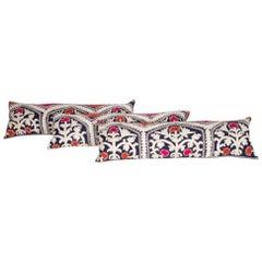 Suzani Lumbar Pillow Cases Fashioned from an Uzbek Suzani, 1960s