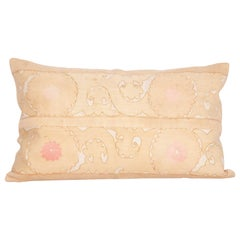 Suzani Lumbar Pillow Cases Made from a Vintage Uzbek Suzani, Mid-20th Century