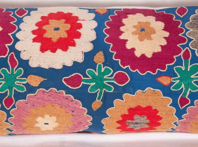 Suzani Lumbar Pillow Cases, Uzbekistan, Mid-20th Century For Sale 1