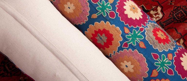 Suzani Lumbar Pillow Cases, Uzbekistan, Mid-20th Century For Sale 5