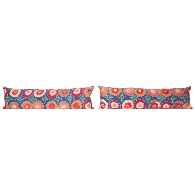 Suzani Lumbar Pillow Cases, Uzbekistan, Mid-20th Century For Sale