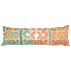 Suzani Lumbar Pillowcase Made from a Vintage Uzbek Suzani, Mid-20th Century