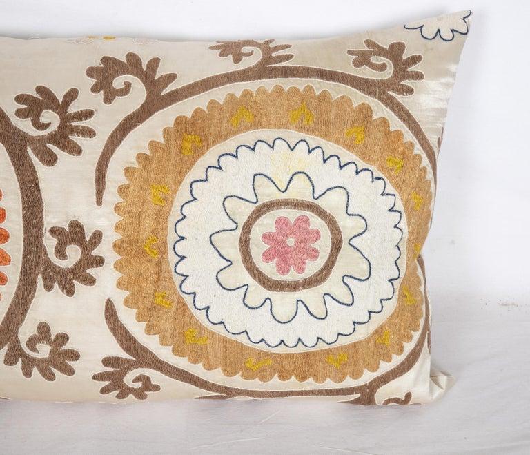 Cotton Suzani Pillow Case Fashioned from a Mid-20th Century Uzbek Suzani