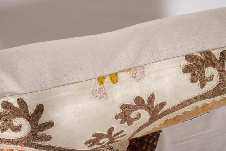 Suzani Pillow Case Fashioned from a Mid-20th Century Uzbek Suzani 1