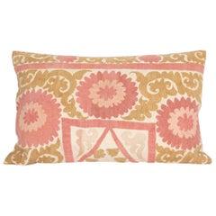 Suzani Pillow Case Fashioned from a Mid-20th Century Uzbek Suzani