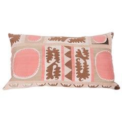 Suzani Pillow Case, Fashioned from a Mid-20th Century Samarkand Suzani