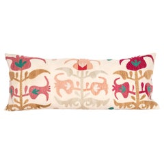 Suzani Pillow Case Fashioned from a Samarkand Suzani from Uzbekistan, mid 20th C