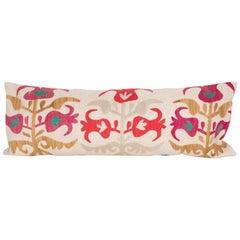 Suzani Pillow Case Fashioned from a Samarkand Suzani from Uzbekistan