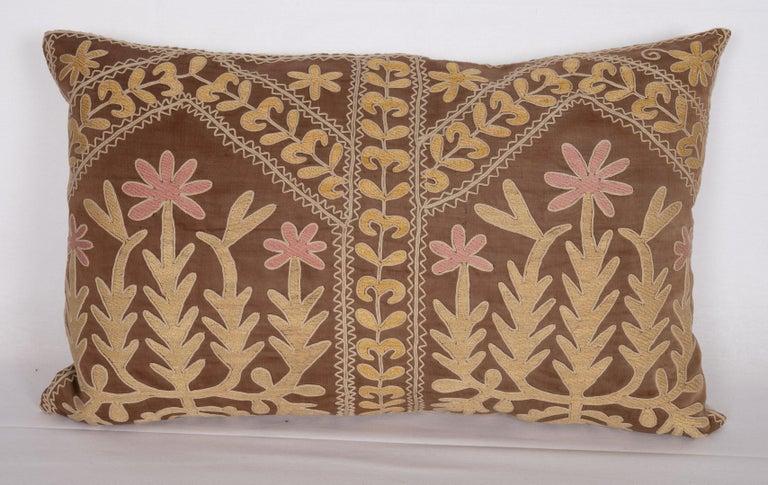 Uzbek Suzani Pillow Case Made from a Mid-20th Century Samarkand Suzani For Sale