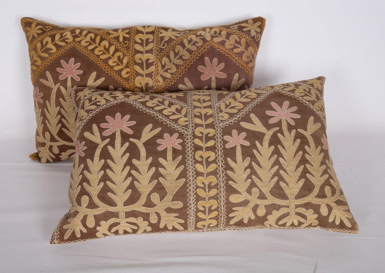 Cotton Suzani Pillow Case Made from a Mid-20th Century Samarkand Suzani For Sale