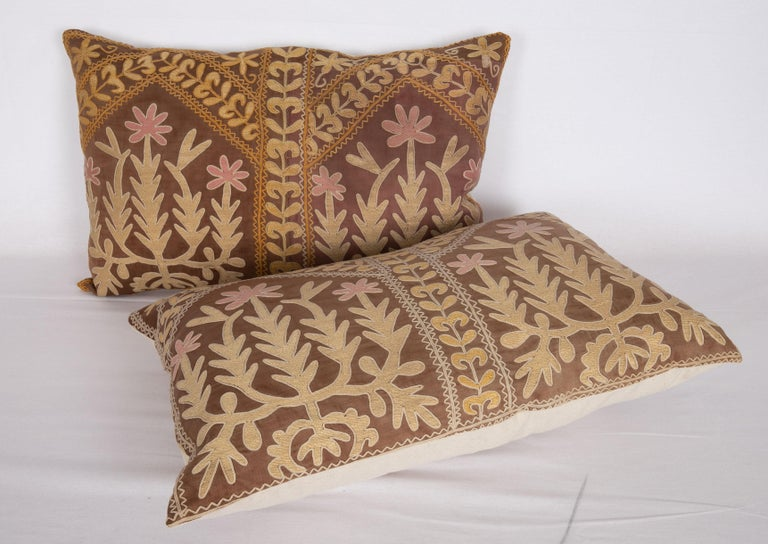 Suzani Pillow Case Made from a Mid-20th Century Samarkand Suzani For Sale 1
