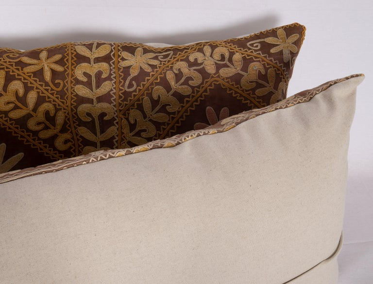 Suzani Pillow Case Made from a Mid-20th Century Samarkand Suzani For Sale 2