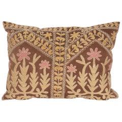 Suzani Pillow Case Made from a Mid-20th Century Samarkand Suzani