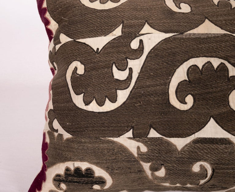 Embroidered Suzani Pillow Case Made from a Samarkand Suzani, 1930s For Sale