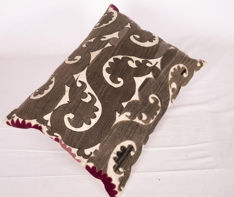 20th Century Suzani Pillow Case Made from a Samarkand Suzani, 1930s For Sale