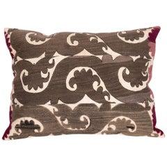Suzani Pillow Case Made from a Samarkand Suzani, 1930s