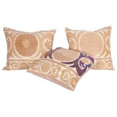 Suzani Pillow Cases Fashioned from a Mid-20th Century Samarkand Suzani