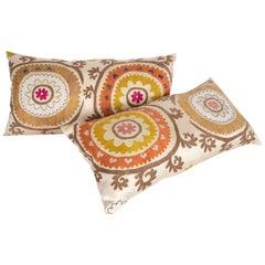 Suzani Pillow Cases Fashioned from a Mid-20th Century Uzbek Suzani