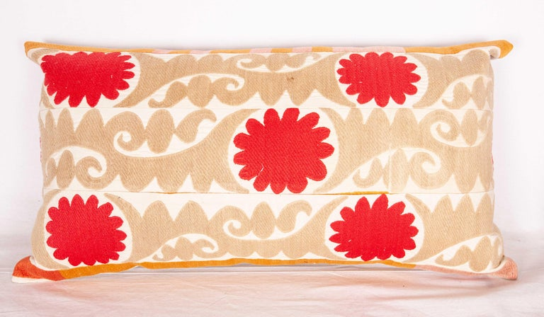 Embroidered Suzani Pillow Cases Fashioned from a Vintage Uzbek Suzani For Sale