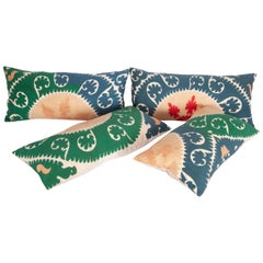 Suzani Pillow Cases Made from a Vintage Uzbek Suzani, 1960s