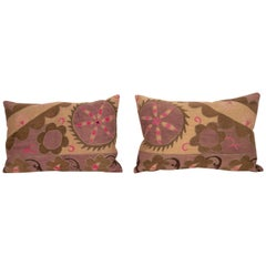 Suzani Pillow Cases Made from an Early 20th Century Tashkent Suzani