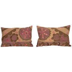 Suzani Pillow Cases Made from an Early 20th Century Tashkent Suzani
