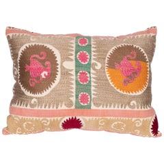 Suzani Pillowcase Made from a Vintage Uzbek Suzani, Mid-20th Century