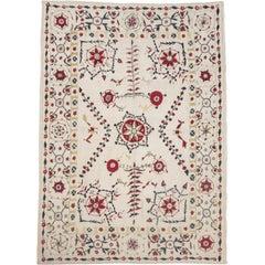 Suzani Style Wool Rug, Afghanistan