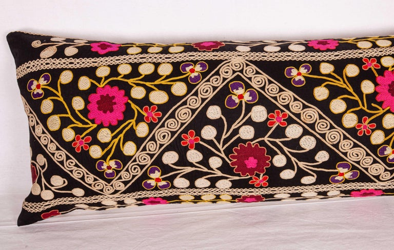 Suzan Lumbar Pillow Case Fashioned from a Mid-20th Century Uzbek Suzani In Good Condition For Sale In Istanbul, TR