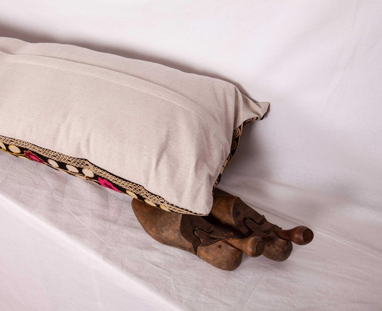 Suzan Lumbar Pillow Case Fashioned from a Mid-20th Century Uzbek Suzani For Sale 1