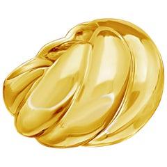 Suzanne Belperron 18 Carat Yellow Gold 'Torsade' Ring, circa 1950s