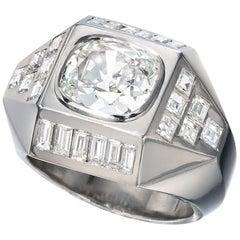 Suzanne Belperron Paris circa 1950 Geometric Diamond Ring