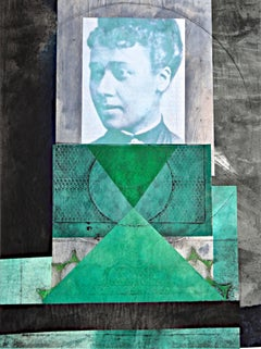 Benton, Anna Julia Cooper, monoprint with Chine collé, Oberlin College Women