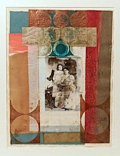 Benton, Charlotte Perkins Gilman and Her Daughter, monoprint, PioneerActivist