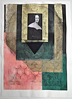 Benton, Mary Wollstonecraft, monoprint with Chine collé, Pioneer Activist