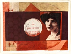 Benton, Spirit of Hope (Alice Paul) monoprint with Chine collé, PioneerActivist