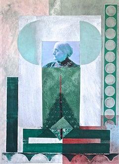 Benton, Susan B. Anthony the Elder, monoprint with Chine collé, PioneerActivist