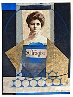 Benton, The Suffragist(Alice Pau), monoprint with Chine collé, Pioneer Activist