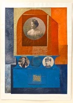 Benton_Mary Church Terrell Life Cycle_monoprint, collage, Oberlin College Women