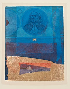 Benton, Antoinette B Blackwell and the Blue Circle, monoprint, Oberlin College