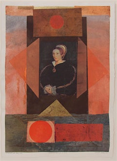 Suzanne Benton_Catherine Howard d. 1542_2003_monoprint, Chine collé_13 x 18 in
