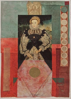Suzanne Benton_Queen Mary_2003_monoprint, Chine collé_12 x 18 in
