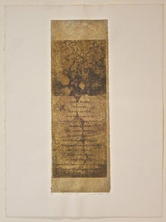 Suzanne Benton_The Golden Day_2004_ etching with chine colle__ 12 x 4 inches
